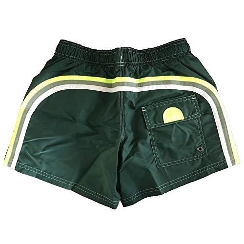 SUNDEK Klassische Herren-Badeshorts mit elastischer Taille, 35,6 cm - Grün - Small