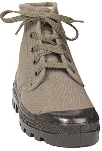 Mil-Tec Franz. Commando Chaussures 5 trous - - Olive, 40 EU