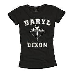 MAKAYA Camiseta Negra Mujer Daryl Dixon
