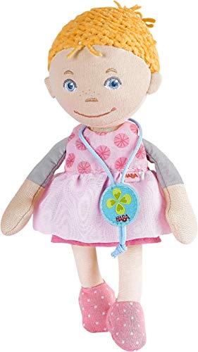 HABA 304580 - Schutzpüppchen Liv, Glücksbringer für Kinder ab 12 Monaten, Sorgenpüppchen mit Glücks-Medaillon