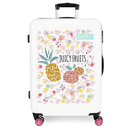 Enso Juicy Fruits Maleta Mediana Multicolor 48x68x26 cms Rígida ABS Cierre combinación 70L 3,7Kgs 4 Ruedas Dobles