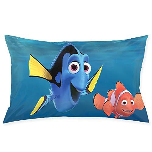 Finding Nemo - Fundas de almohada de doble cara con diseño suave para interiores y exteriores, funda de cojín para coche, sofá, decoración del hogar, 50 x 76 cm