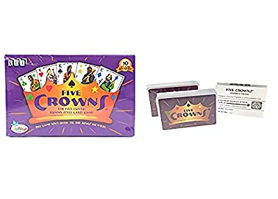 Five Crowns Card Game, A Must-Have Game for Family Gatherings, Card Games for Young Adults, Bring More Joy to Family and Friends ( Five Crowns )