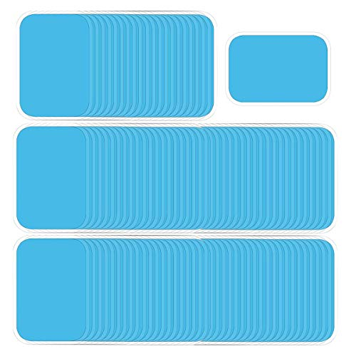 OSELEE 60PCS Abs Trainer Gel Pads Replacement Gel Sheet Stimulator for Abs Toner Abdominal Workout Toning Belt Muscle Toner Pads