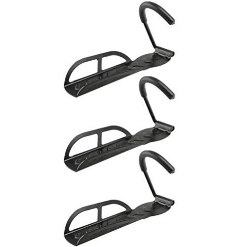 WINOMO 3 Stück Fahrrad Wandhaken Garage Wandhalterung Fahrradhalter Vertikale Fahrradkeller für Innenschuppen