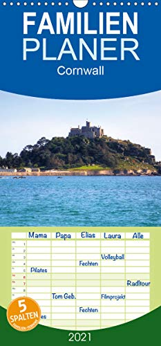 Cornwall - Familienplaner hoch (Wandkalender 2021, 21 cm x 45 cm, hoch)
