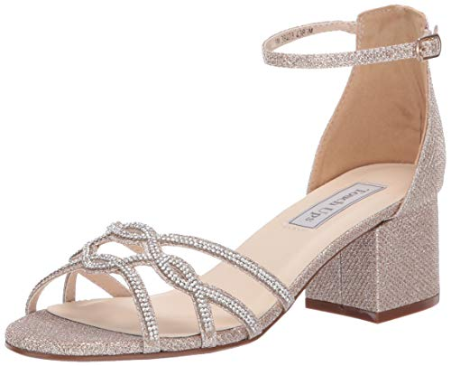 Touch Ups Women's Zoey Sandal, champagne, 8 W US