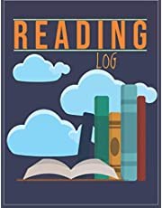 "Reading Log: track all your book reviews, logs & journal notebook, reading organizer favorite books - A reading journal with 100 spacious record pages (8.5""x11"")"