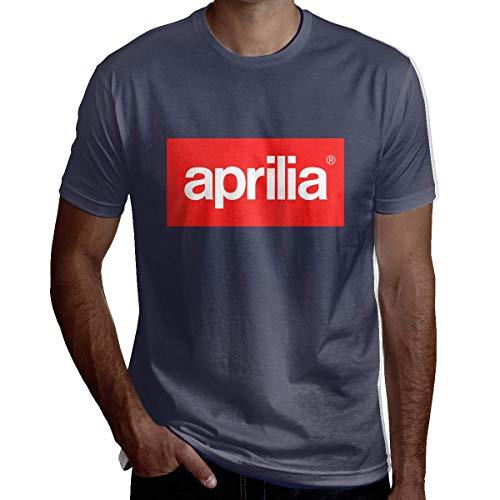Casual Tops T-Shirts Personalisierte Aprilia Motor Logo T-Shirt für Mann Kurzarm Schwarz