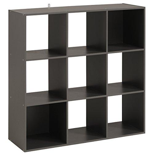 Parisot Cube 9 Cases - Kubikub - Gris Ombre - l 90 x P 30 x H 90 cm