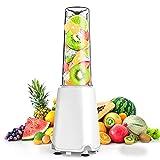 ジューサー ボトルミキサー 野菜&果物&離乳食用 栄養補充 小型スムージー ミキサー 一台多役 200Wハイパワー 氷も砕ける ジューサー アウトドア/オフィスなどに向け