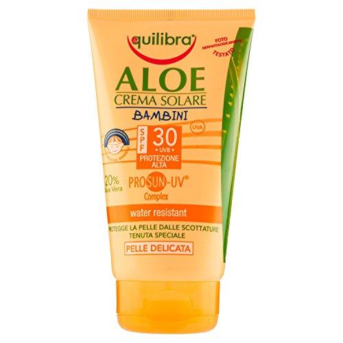 Equilibra Aloe Crema Solare Bambini Spf 30, 150 ml
