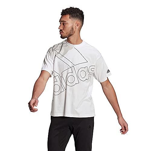 adidas GK9424 U FAVS Q1 T T-Shirt Unisex-Adult White/Black 2XL