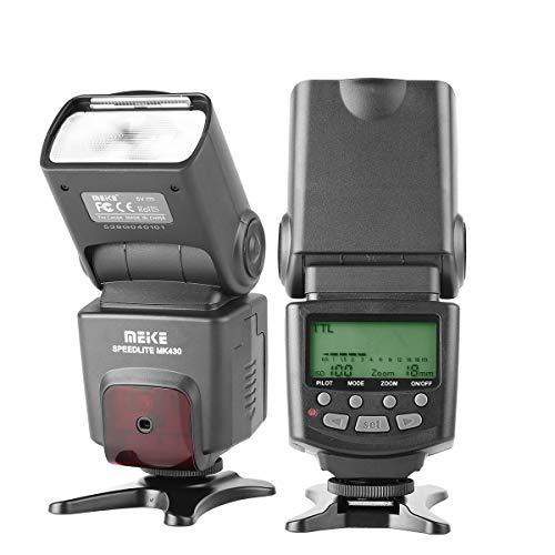 Meike MK430 TTL Flash Speedlite for Nikon D7100 D5300 D5200 D3500 D3100 D600 D800 D3200 D90 D80 D300 D7500 D780 and Other Nikon DSLR Cameras