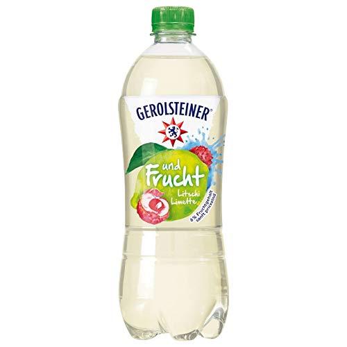 12 Flaschen Gerolsteiner Litsche Limette Mineralwasser a 750ml PET inc. 3,00€ EINWEG Flasche