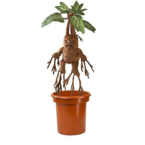 Harry Potter - Plüschfigur - Kuscheltier - Alraune Pflanze mit Blumentopf + Vibration und Soundfunktion