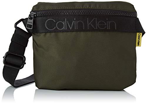 Calvin Klein NASTRO Logo Mini Reporter, Hombre, Oliva Oscura, OS