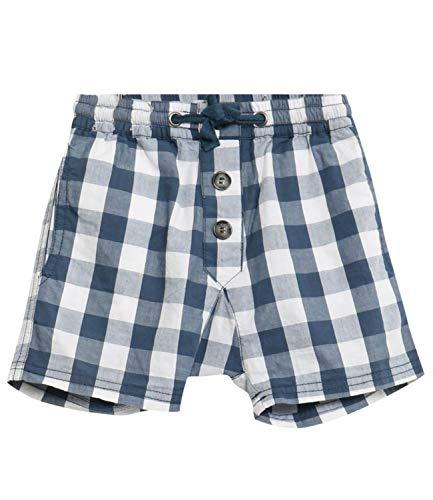 Wheat Fred Baby Pantalon de Sport pour garçon Blanc et Bleu Pur Coton léger