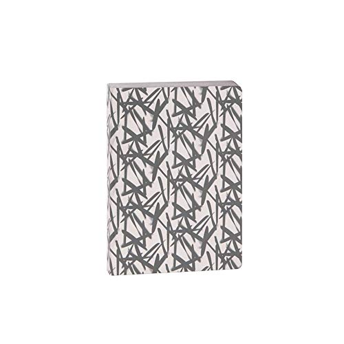 ARTEBENE Notizbuch Notebook Schreibbuch Bujo Bullet Journal Muster Schwarz Weiß | Dotted Punktraster | Premium Papier 120g/m2 | 240 Seiten DIN A6
