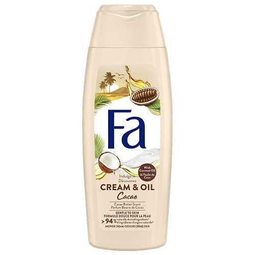 Fa - Gel Douche Corps - Cream & Oil - Huile de Coco & Parfum Beurre de Cacao - Formule de pH neutre pour la peau - Testé sous contrôle dermatologique