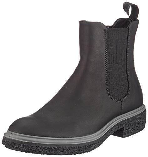 ECCO Damen CREPETRAY HYBRID W Chelsea Boots, Schwarz (Black 1001), 43 EU