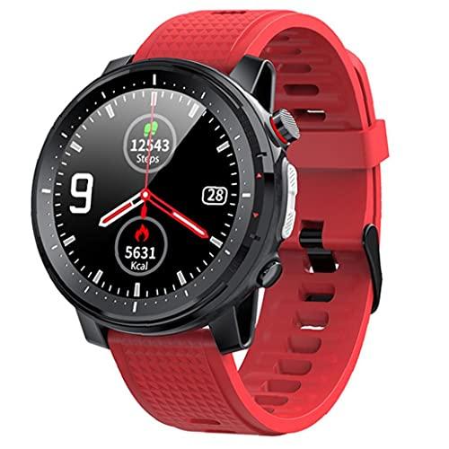 Reloj Elegante Sraeriot Bluetooth Pulsera De Los Deportes Ip68 a Prueba De Agua Pantalla Táctil Hombres Mujeres Aptitud Del Reloj Rastreadores Rojo