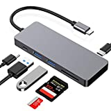 USB C HUB,UHS-II Card Slot SD 4.0 /TF-Kartenleser,Hotott 2 USB 3.0 Ports Type C PD 87W Adapter für MacBook Pro/Air, Chromebook, Samsung S10, Huawei P20pro usw