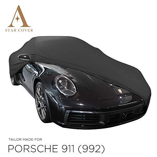 AUTOABDECKUNG SCHWARZ PASSEND FÜR Porsche 911 (992) GANZGARAGE INNEN SCHUTZHÜLLE ABDECKPLANE SCHUTZDECKE Cover