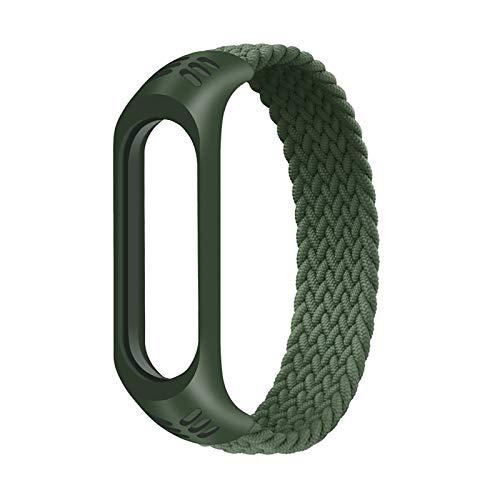 horen Armband für Mi Band 5 Armband Nylon Geflochtenes Armband Armband Ersatz Uhr Armband Sport Armband Armband für Mi Band 4 3 Armband