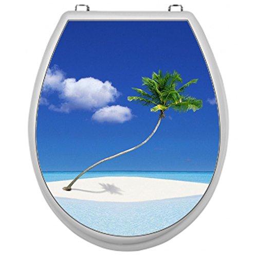 Aufkleber für Toilettensitz Klodeckel Aufkleber WC Sitz Aufkleber - Motiv Palme