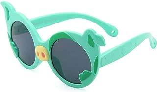 Children Polarized Sunglasses Silicone Sunglasses Personality Animals Pig Sunglasses Boys and Girls,Green