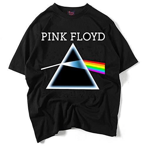 Fang T-Shirt, Unisex 3D bedrucktes T-Shirt, Pink A Floyd Kurzärmeliges Baumwoll-T-Shirt Street Rock Hip-Hop Persönlichkeit Kleidung Cosplay Mode Männe
