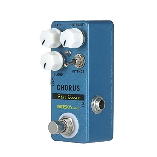 Duotar Effector Pedal de efeito de guitarra audio Blue Ocean Chorus Guitar Effect Pedal Chorus/True Bypass Rate + Blend + Intensity + Intence Chorus/True By