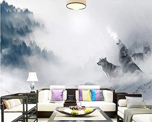 Behang fotobehang 3D custom fotobehang abstract dier landschap kunstzinnige wonderland bos mistig huis decoratie voor woonkamer bank Tv achtergrond slaapkamer muur decoratie (-Bh0560) 280cm(W)×180cm(H)