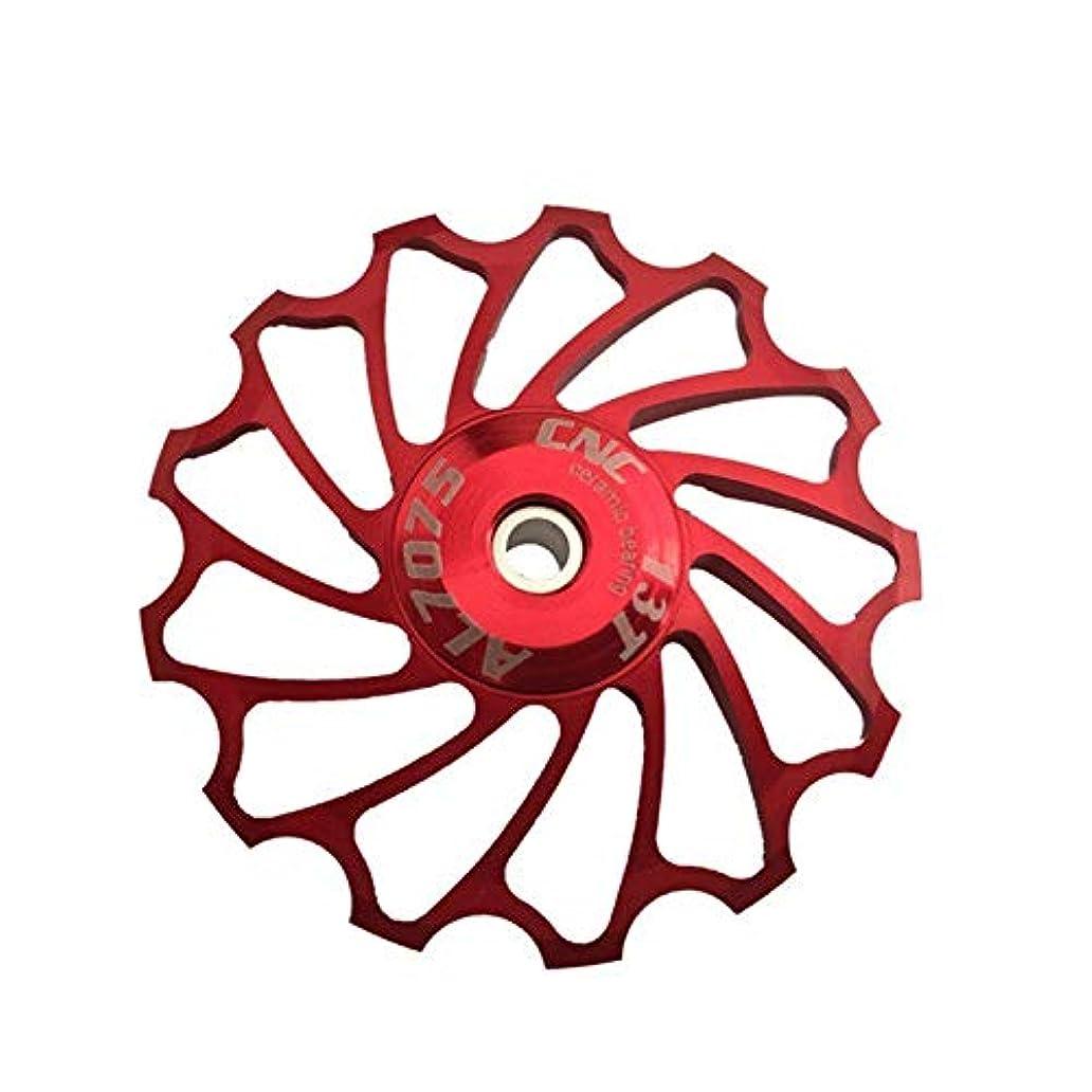 ワイプエールるPropenary - Cycling bike ceramics Jockey Wheel Rear Derailleur Pulley 13T 7075 Aluminum alloy bicycle guide pulley bearing bicycle parts [ Red ]