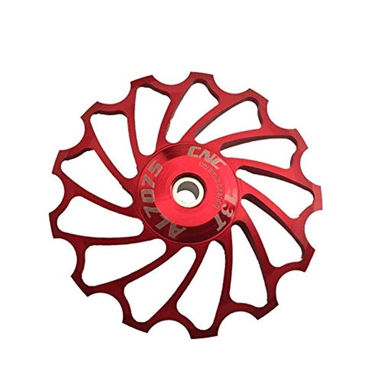 国民平和なレギュラーPropenary - Cycling bike ceramics Jockey Wheel Rear Derailleur Pulley 13T 7075 Aluminum alloy bicycle guide pulley bearing bicycle parts [ Red ]