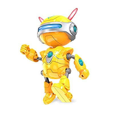 DEERC Robots for Kids Toys for Boys or Girls - Educational Voice Robot with Interactive Talking Bright LED, Smart Gifts for Toddlers
