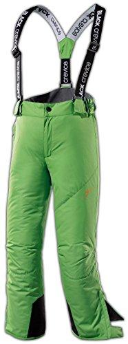Black Crevice Skihose Pantalones de esquí, Unisex-Niño, Verde, 6 años (116 cm)