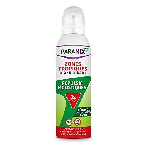Paranix Répulsif Moustiques – Zones Tropiques et Zones Infestées – Protection 9 H – Aérosol 125 ml