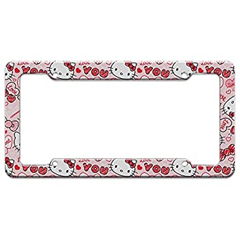 Graphics and More Hello Kitty Love You Valentine s Pattern License Plate Clear Frame