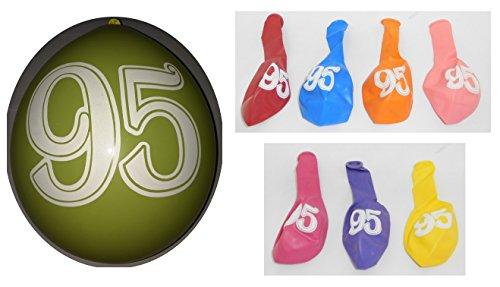Lot 20 Ballons 95 ans Multicolore 31cm Decoration Anniversaire