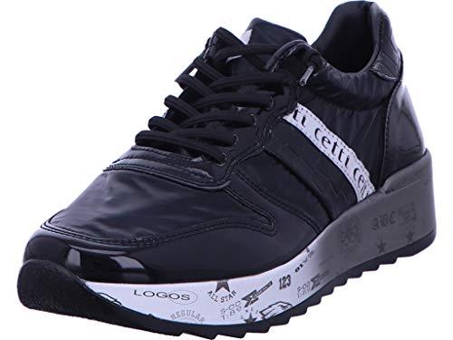 Cetti - Zapatillas deportivas con cordones para mujer, color negro, color Negro, talla 41 EU
