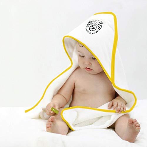 FC JUVENTUS Accappatoio Triangolo Baby Neonato Asciugamano con Cappuccio Spugna Cotone Ufficiale