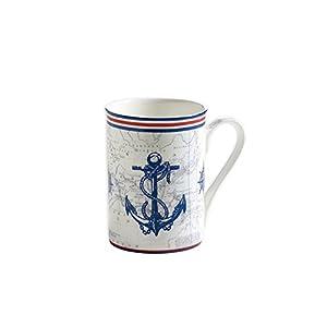 Maxwell & Williams S88004 Nautical Becher, Kaffeebecher, Tasse, Anker, in Geschenkbox, Porzellan