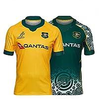 2021 australian rugby casa longe roupas de futebol réplica masculino camisa esporte tamanho: S-5XL (Color : RS494, Size : 5X-Large) from LQWW