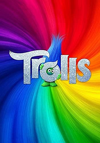 CHANGJIU- Puzzle De 1000 Piezas- Carteles De Películas De Trolls -Cada Pieza Es Única, La Tecnología Softclick Significa Que Estas Piezas Encajan Perfectamente,75X50 Cm