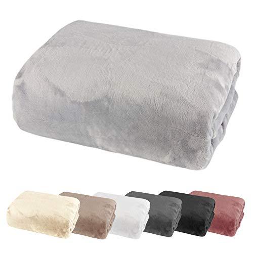 heimtexland ® Spannbetttuch Cashmere Touch Teddy Plüsch Spannbettlaken Super Soft ÖKOTEX Nicky 150x200 Grau Typ585