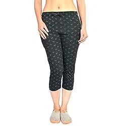HARDIHOOD Womens Cotton Yoga Gym Capri Half Pant Three Fourth for Ladies/Girls(Sizes- l XL XXL)