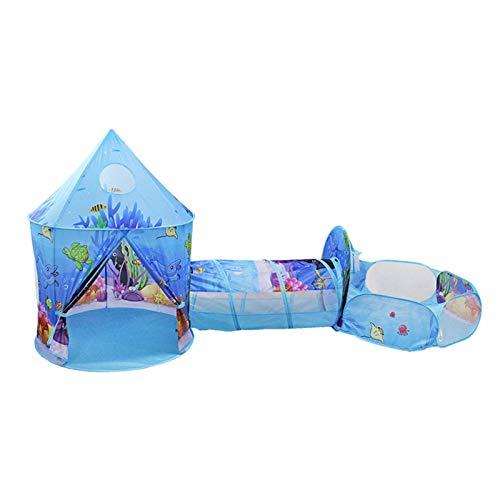 Suppemie Tienda de campaña para niños, plegable, túnel para gatear, tienda para niños, túnel, tubo, se puede utilizar para juegos divertidos.