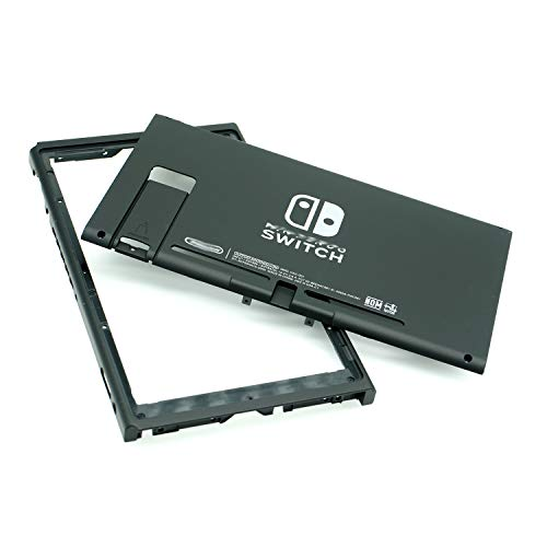 Black Rear Back Cover Replacement Housing Shell Case Bottom for Nintendo Switch Backplate (US Edition)